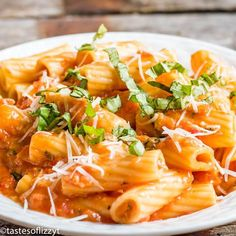 This Rigatoni with Tomato Parmesan Sauce is a hearty meatless meal with an amazing flavor. This from scratch tomato sauce simmers in under an hour.then add freshly grated Parmesan for an ultimate creamy sauce. Easy Meatless Dinner Recipe, Meatless Pasta Recipes, Veggie Recipes, Vegetarian Recipes, Cooking Recipes, Italian Tomato Sauce, Homemade Tomato Sauce, Tomato Sauce Recipe, Homemade Pasta