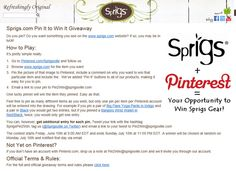 This competition required adding a comment to your pin saying why you wanted to win the items.