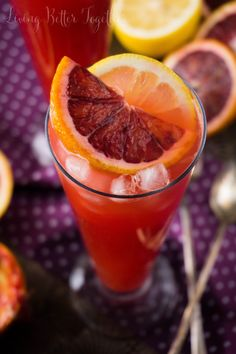 delicious use of blood orange!