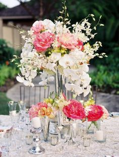 Photographer: Steve Steinhardt Photography; Wedding reception centerpiece idea;