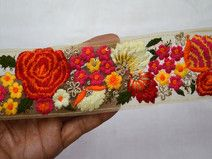 Indian Laces Embroidered Ribbon