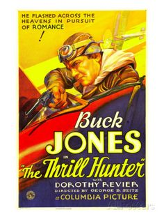 buck jones movie poster belgian | The Thrill Hunter, Buck Jones, 1933 Posters at AllPosters.com
