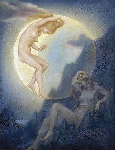 Evelyn de Morgan, The Sleeping Earth and the Wakening Moon