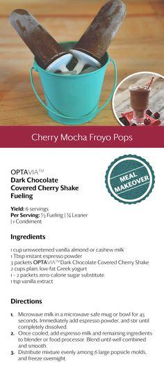Cherry Mocha Froyo Pops