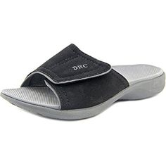 Dr. Comfort Womens KELLY Diabetic Slide Orthotic Slipper (8W, Black) * You can find out more details at the link of the image.