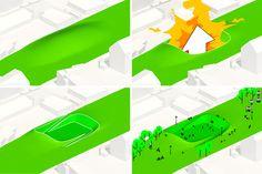 superkilen urban park by BIG architects, + superflex - designboom Copenhagen City Centre, Big Architects, Research Writing, Urban Park, Skate Park, Magazine Design, Architecture Design, Concept, Cultural Center