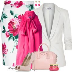 """Floral Skirt"" by anna-campos on Polyvore"