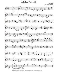 Ashokan Farewell for violin.