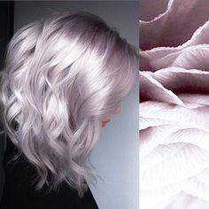 Made by Chiffon Blonde by A. Made by Chiffon Blonde by A Rooty Mauve Platinum using Express Tones Violet Pearl & Ash. Silver Blonde Hair, Platinum Blonde Hair, Blonde Hair With Purple Highlights, Silver Platinum Hair, Pearl Blonde, Violet Hair, Lilac Hair, Silver Lavender Hair, Purple Grey Hair