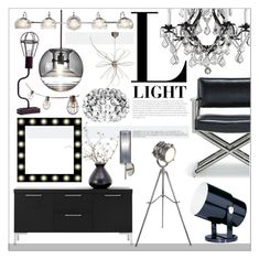 """""""L for Light"""" by szaboesz ❤ liked on Polyvore featuring interior, interiors, interior design, home, home decor, interior decorating, Gallery, Dot & Bo, Mitchell Gold + Bob Williams and Tom Dixon"""