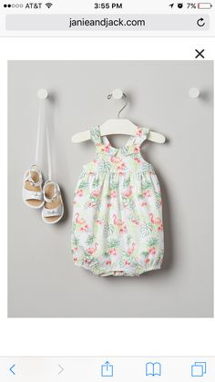608bbd1f61e0 Flamingo Janie And Jack, Newborn Outfits, Kids Outfits, Infant, Rompers,  Summer