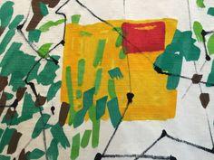 Etel Adnan tapestry detail