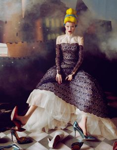 """""""Dream of the Dress"""" Fashion Editorial in for Harper's Bazaar China, December 2013 