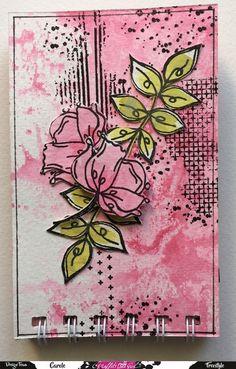 Mini Albums, Graffiti Girl, Artist Card, Elizabeth Craft, Tampons, Art Journal Inspiration, Mail Art, Journal Cards, Collage Art