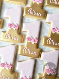 Personalized Pink and Gold First birthday Number 1 (one) -One Dozen Decorated Su. - Personalized Pink and Gold First birthday Number 1 (one) -One Dozen Decorated Sugar Cookies – Eas - 1st Birthday Cake For Girls, First Birthday Cookies, One Year Birthday, Baby Girl 1st Birthday, First Birthday Parties, 1st Birthday Party Ideas For Girls, Pink And Gold Birthday Party, Pink Und Gold, Princess Cookies