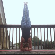 Get upside down! Headstand, handstand or even legs-up-the-wall or downward dog. Get upside down once a day and reverse the blood flow to gain new perspective, build confidence & have fun. #yoga