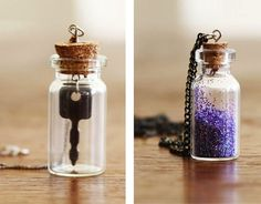 I love the look of mini bottle necklaces filled with tiny treasures, so I'm definitely excited about this mini bottle necklace tutorial from Lana at Lana Red. When you mix teeny tiny containers wit...