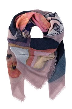 Woven from a lightweight wool loop it around your neck for a casual look or wrap it around your shoulders as a shawl. The weave is tight enough to keep you warm in winter but loose enough to enjoy it in the spring and fall.  Dimensions : 140 cm x 140 cm  Wisteria Wool Scarf by Becksondergaard. Accessories - Scarves & Wraps Toronto Canada