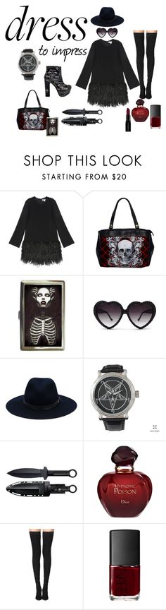 """Dress to impress"" by shayne-bohner ❤ liked on Polyvore featuring Elizabeth and James, Midnight Rider, rag & bone, Christian Dior, Tamara Mellon, NARS Cosmetics, Smashbox and bellsleevedress"