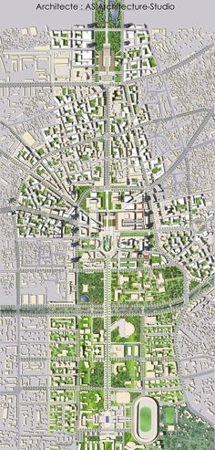 Master_plan_du_Centre_ville_de_Tirana,_Albanie,_par_AS. Urban Design Concept, Urban Design Diagram, Urban Design Plan, Plan Design, Masterplan Architecture, Architecture Drawings, Architecture Plan, The Plan, How To Plan