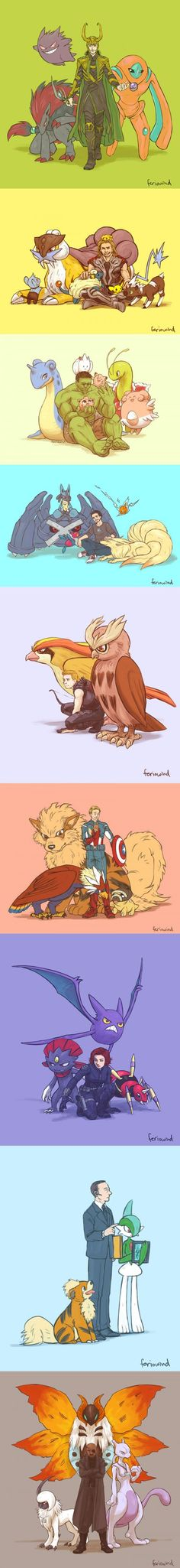 If the Avengers had Pokemons