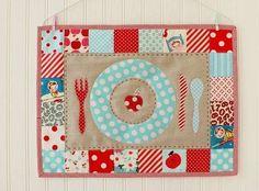 Manteles de patchwork: Fotos de diseños - Diseño de mantel de patchwork para niños