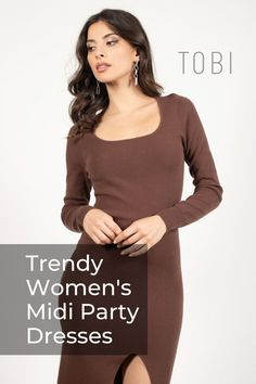 Cute Midi Dresses for Every Occasion! What is a midi dress? A midi is a dress at perfect length for every affair! White Midi Dress, Midi Dresses, Women's Fashion Dresses, Simple Street Style, Sundresses Women, Cute Dresses For Party, Evening Party, Trending Outfits, Sign