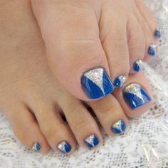 Pedicure Nail Art Designs for Fall-Latest Nail Art Design Trends toe nails Pedicure Nail Art, Pedicure Nail Designs, Blue Pedicure, Easy Toenail Designs, Nails Design, Pedicure Ideas, Nail Nail, Nail Polish, Nail Art Designs