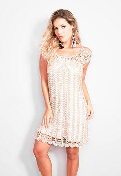 0b443b7ba Vestido de Crochê Curto - Linha Encanto - Blog do Bazar Horizonte - Maior  Armarinho Virtual