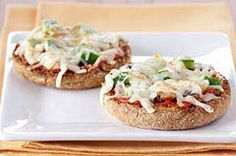 Vegetable-English Muffin Pizzas recipe