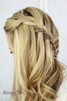 Braid 11 Sideswept Waterfall Braid