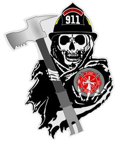 firefighter toons - Google zoeken Firefighter Decals, Firefighter Paramedic, Volunteer Firefighter, Firefighter Tattoos, Fire Dept, Fire Department, Emergency Response, Ems, Wood Steel