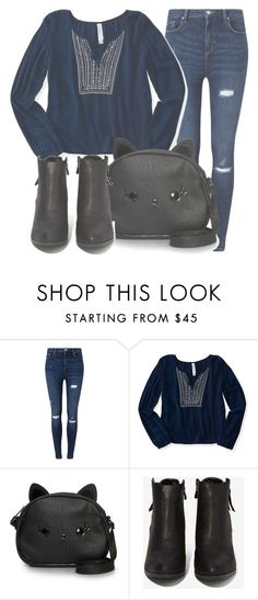 """Outfit #1285"" by sofiaabaarona1998 on Polyvore featuring moda, Miss Selfridge, Aéropostale, Loungefly y N.Y.L.A."