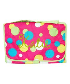 Loving this Hot Pink Dots Personalized Trifold Organizer on #zulily! #zulilyfinds