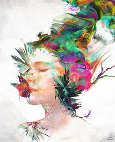 Canvas Art Prints, Framed Art Prints, L'art Du Portrait, Portraits, Art Et Illustration, Illustrations, Wow Art, Rainbow Art, Ink Pen Drawings