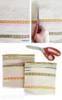 alisaburke: fashion friday- coiled rope pouches