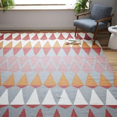 Impressive West Elm Margo Selby Zigzag Stripe Kilim Rug Design Offers Hand Loomed with a Colorful Pattern and Rug Pad Recommended. #WestElm #Rugs #Netnoot