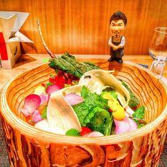 Pq até um salada pode ser algo surpreendente no Japão... Oishi kata @zaiyuhasegawa #den #tokyotrip #foodie #kaiseki by kcoelho
