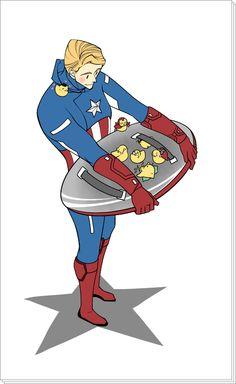 Steve & Duckling Avengers「キャプテン・アメリカ」/「Nimby」の漫画 [pixiv]