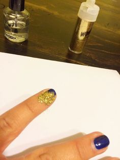 Spotted: How to extend a gel or shellac manicure with AC glitter! via @Heather @ Glitter and Gloss