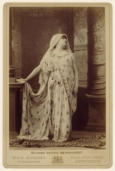 Sarah Bernhardt in the role of Racine's Phèdre; W. & D. Downey (British, active 1860 - 1920s); London, England; about 1874; Albumen silver print; 14.1 × 9.5 cm (5 9/16 × 3 3/4 in.); 87.XA.71.3; J. Paul Getty Museum, Los Angeles, California