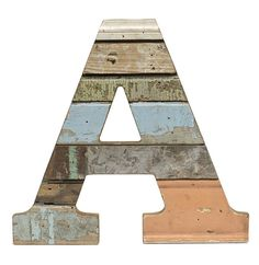 Recycled Wood Letter A - Paul Michael Company  Recycled Wood Letter S These Paul Michael Company Exclusive pieces are designed and made by hand in our Dermott, AR woodshop