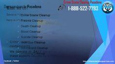 Crime Scene cleanup Pasadena   1-888-522-7793   Death, Hazardaous cleanup