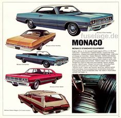 1969 Dodge sales catalog, featuring the Monaco offerings that year.