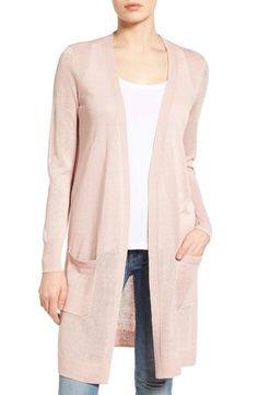 0e10ca115f0b Halogen® Long Linen Blend Cardigan (Regular   Petite)