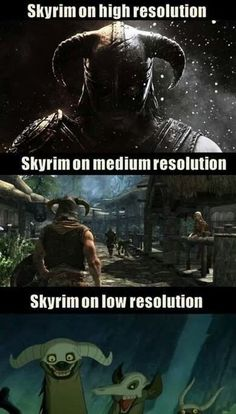 #Skyrim resolutions fun