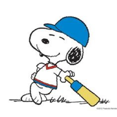 Cricket time! with snoopy