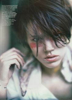 """Freja Beha Erichsen by Paolo Roversi """"A Stroke of Genius"""" for Vogue UK"""