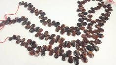NEW Mexican Fire Agate Freeform Top Drilled Beads by BeadSeen on Etsy