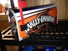 Harley Davidson mailbox by avwallart on Etsy